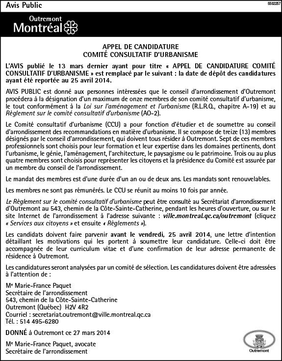 Candidature CCU prolongation LExpress
